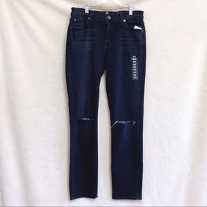 7 For All Mankind Dark Blue Crop Roxanne Jeans